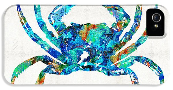 Blue Crab Art By Sharon Cummings IPhone 5 Case