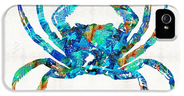 Blue Crab Art By Sharon Cummings IPhone 5 Case by Sharon Cummings