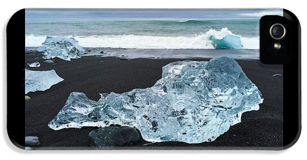 Cool iPhone 5 Case - Blue Ice In Iceland Jokulsarlon by Matthias Hauser