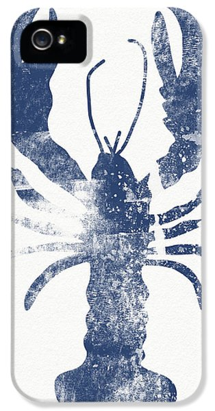 Blue Lobster- Art By Linda Woods IPhone 5 Case by Linda Woods