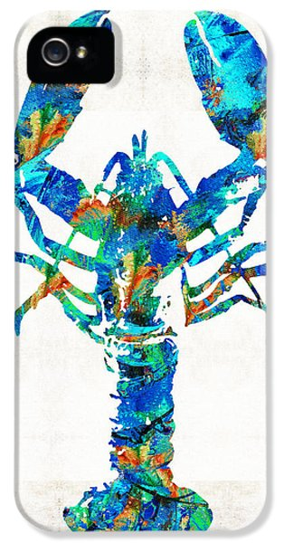 Blue Lobster Art By Sharon Cummings IPhone 5 Case by Sharon Cummings