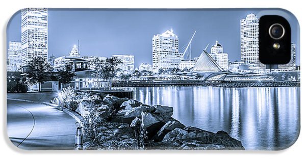 Blue Milwaukee Skyline At Night Picture IPhone 5 Case by Paul Velgos