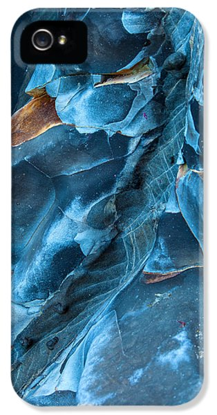 Landscape iPhone 5 Case - Blue Pattern 1 by Jonathan Nguyen