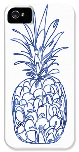 Blue Pineapple- Art By Linda Woods IPhone 5 Case
