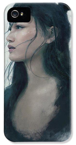 Blue Portrait IPhone 5 Case by Eve Ventrue