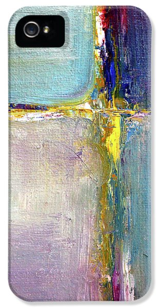 IPhone 5 Case featuring the painting Blue Quarters by Nancy Merkle