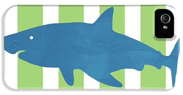 Hammerhead Shark iPhone 5 Case - Blue Shark 1- Art By Linda Woods by Linda Woods