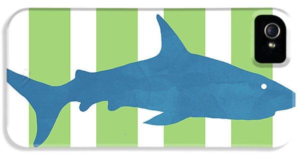 Hammerhead Shark iPhone 5 Case -  Blue Shark 2- Art By Linda Woods by Linda Woods