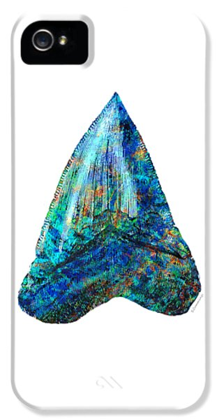 Blue Shark Tooth Art By Sharon Cummings IPhone 5 Case
