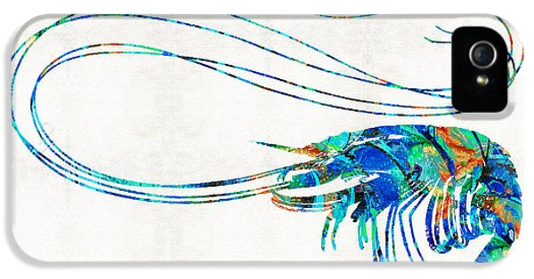 Blue Shrimp Art By Sharon Cummings IPhone 5 Case