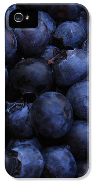 Blueberries Close-up - Vertical IPhone 5 Case by Carol Groenen