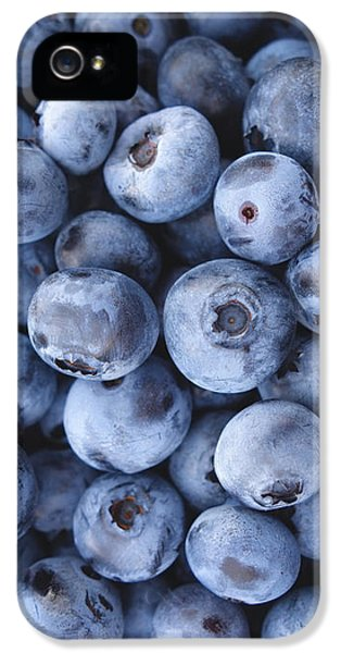 Blueberries Foodie Phone Case IPhone 5 Case by Edward Fielding
