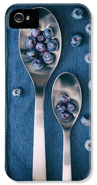Blueberries On Denim I IPhone 5 Case by Tom Mc Nemar