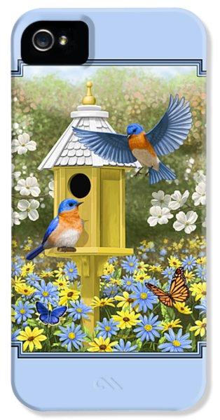 Bluebird Garden Home IPhone 5 Case by Crista Forest