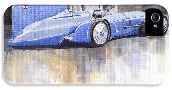 Bluebird iPhone 5 Case - Bluebird World Land Speed Record Car 1931 by Yuriy Shevchuk
