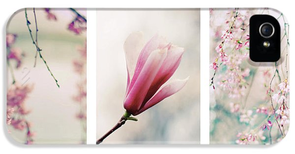 IPhone 5 Case featuring the photograph Blush Blossom Triptych by Jessica Jenney