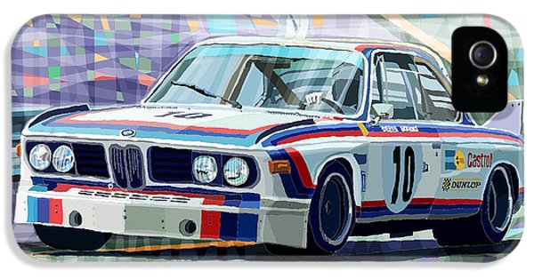 Bmw iPhone 5 Cases - BMW 3 0 CSL 1st SPA 24hrs 1973 Quester Hezemans iPhone 5 Case by Yuriy  Shevchuk