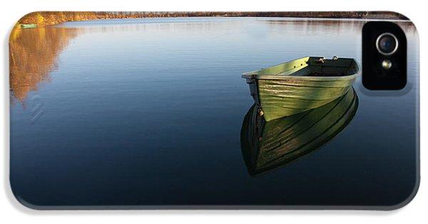 Boat On Lake IPhone 5 Case by Nailia Schwarz