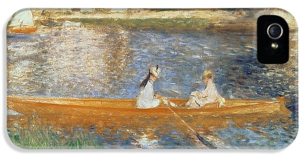 Impressionism iPhone 5 Case - Boating On The Seine by Pierre Auguste Renoir