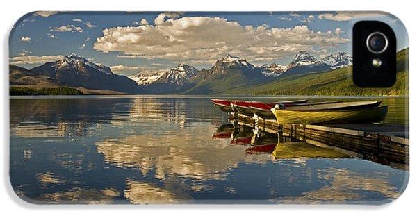 Boats At Lake Mcdonald IPhone 5 Case