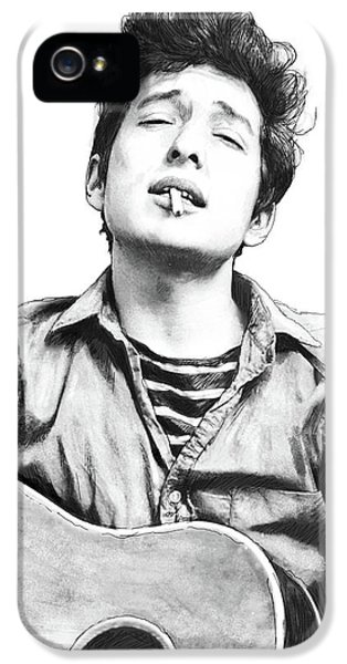 Bob Dylan Drawing Art Poster IPhone 5 / 5s Case by Kim Wang