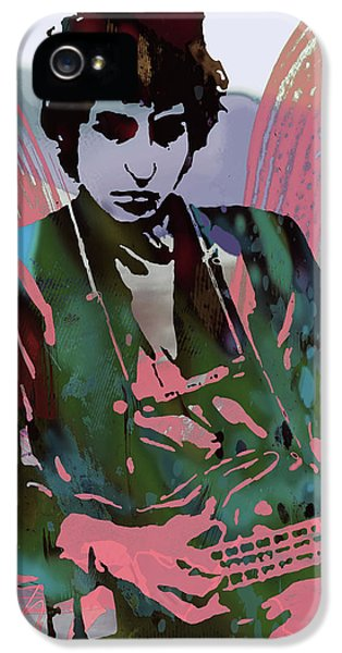 Bob Dylan Modern Etching Art Poster IPhone 5 / 5s Case by Kim Wang