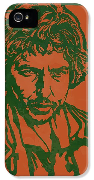 Bob Dylan Pop Stylised Art Sketch Poster IPhone 5 / 5s Case by Kim Wang
