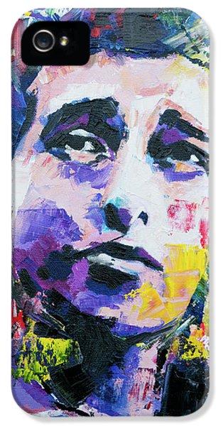 Bob Dylan Portrait IPhone 5 Case by Richard Day