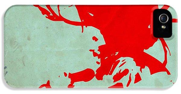 Bob Marley iPhone 5 Cases - Bob Marley Red iPhone 5 Case by Naxart Studio