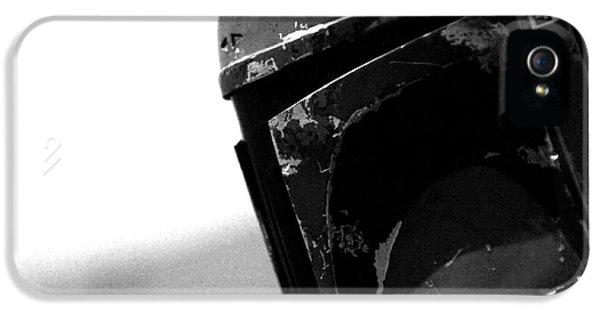 Men iPhone 5 Cases - Boba Fett Helmet iPhone 5 Case by Micah May