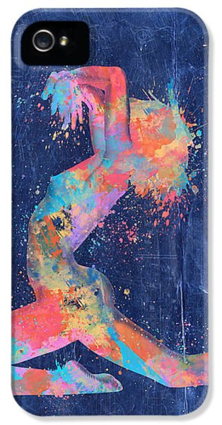 Artistic Nude iPhone 5 Cases - Bodyscape in D Minor - Music of the Body iPhone 5 Case by Nikki Marie Smith