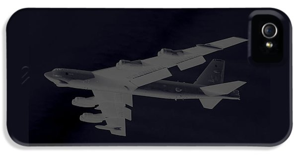 Boeing B-52 Stratofortress Taking Off On A Dangerous Night Mission Tinker Afb 3 Contrasting Borders IPhone 5 Case