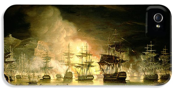 Fire iPhone 5 Cases - Bombardment of Algiers iPhone 5 Case by Thomas Luny