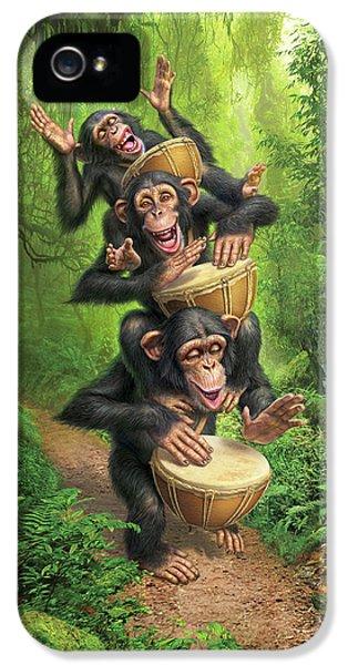 Drum iPhone 5 Case - Bongo In The Jungle by Mark Fredrickson