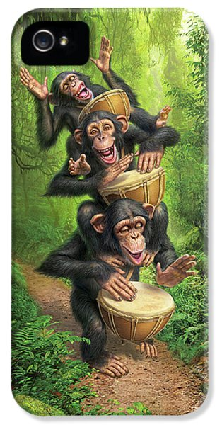 Drum iPhone 5 Case - Bongo In The Jungle by Mark Fredrickson