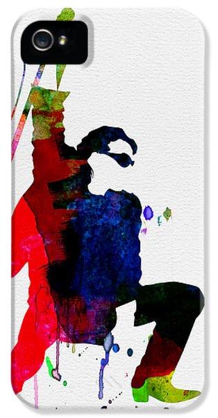 Jazz iPhone 5 Case - Bono Watercolor by Naxart Studio