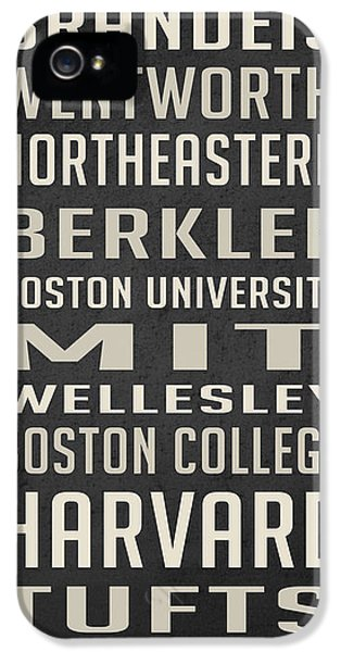 Boston Colleges Poster IPhone 5 / 5s Case by Edward Fielding