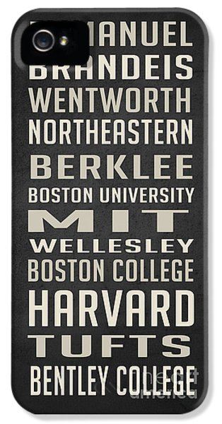 Boston Colleges Poster IPhone 5 Case by Edward Fielding