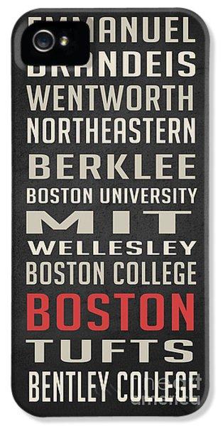 Boston Collegetown IPhone 5 Case by Edward Fielding