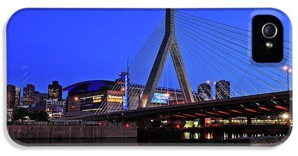 Boston Garden And Zakim Bridge IPhone 5 Case by Rick Berk