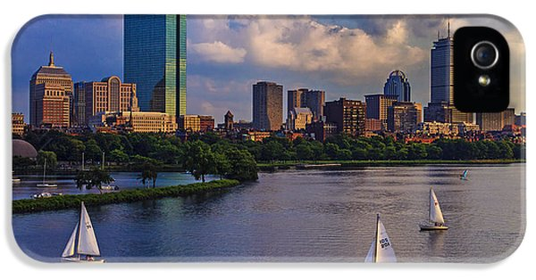 Boston Skyline IPhone 5 Case by Rick Berk