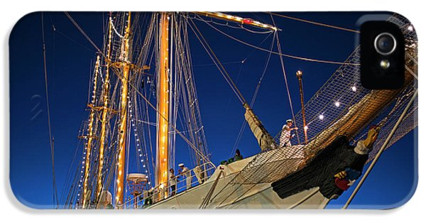 Boston Tall Ship Flags Boston Ma Sailors Blue Sky IPhone 5 Case by Toby McGuire