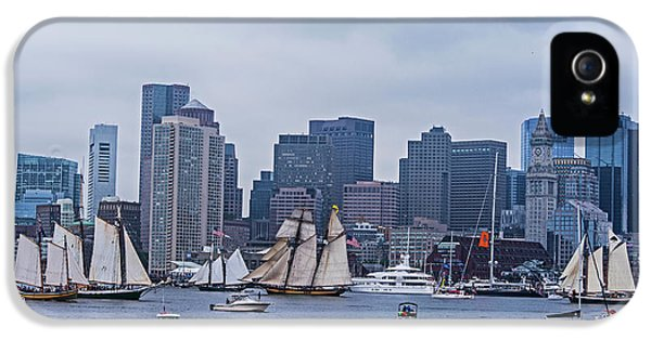 Boston Tall Ship Parade 2017 Ships In The Harbor IPhone 5 Case by Toby McGuire