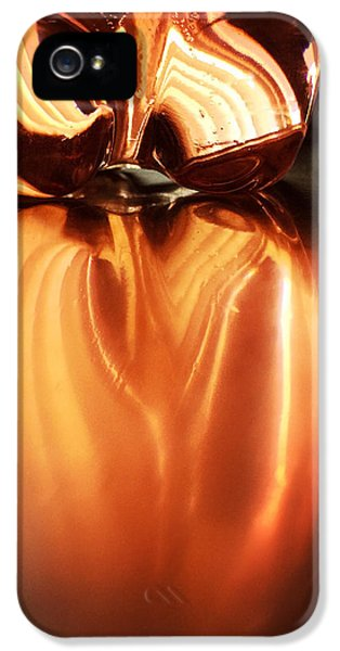 Orange iPhone 5 Case - Bottle Reflection - Abstract Colorful Art Square Format by Matthias Hauser
