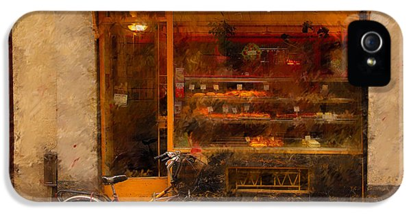 French iPhone 5 Case - Boulangerie And Bike 2 by Mick Burkey