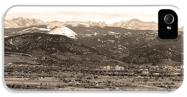 Boulder Colorado Sepia Panorama Poster Print IPhone 5 Case by James BO  Insogna