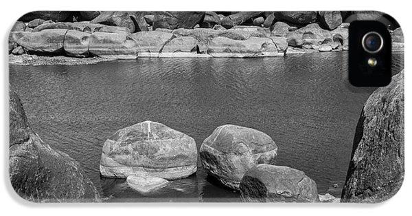 IPhone 5 Case featuring the photograph Boulders Of Tungabhadra, Hampi, 2017 by Hitendra SINKAR