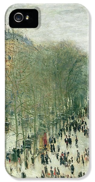 Boulevard Des Capucines IPhone 5 Case by Claude Monet