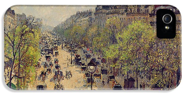 Boulevard Montmartre IPhone 5 Case by Camille Pissarro