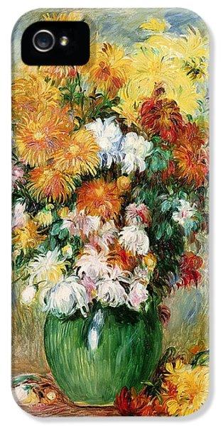 Bouquet Of Chrysanthemums IPhone 5 Case by Pierre Auguste Renoir